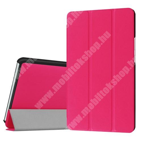 HUAWEI MediaPad M3 8.4 Notesz / mappa tok - MAGENTA - oldalra nyíló flip cover, TRIFOLD asztali tartó funkciós, mágneses záródás - HUAWEI MediaPad M3 8.4