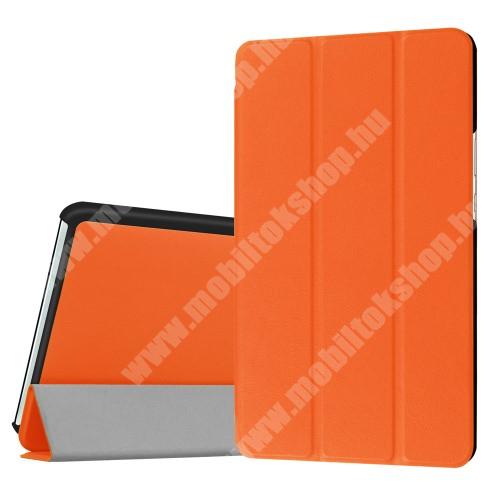 HUAWEI MediaPad M3 8.4 Notesz / mappa tok - NARANCS - oldalra nyíló flip cover, TRIFOLD asztali tartó funkciós, mágneses záródás - HUAWEI MediaPad M3 8.4