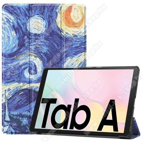 Notesz / mappa tok - OLAJFESTMÉNY MINTÁS - oldalra nyíló flip cover, TRIFOLD asztali tartó funkció, mágneses záródás, műanyag belső - SAMSUNG Galaxy Tab A7 10.4 (2020) (SM-T500/SM-T505)