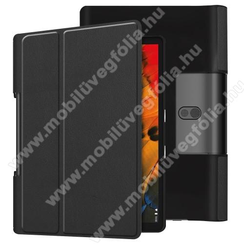 Lenovo Yoga Smart Tab 10.1 (YT-X705)Notesz / mappa tok - oldalra nyíló flip cover, asztali tartó funkciós, rejtett mágneses - FEKETE - Lenovo Yoga Smart Tab 10.1 (YT-X705)