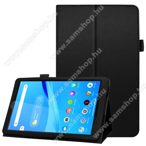 Notesz / mappa tok - oldalra nyíló flip cover, asztali tartó funkciós, rejtett mágneses - FEKETE - Lenovo Tab M8 (FHD) / Lenovo Tab M8 (HD) (TB-8505)