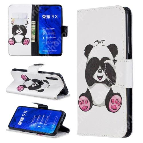 HUAWEI Honor 9X (For China market)Notesz / mappa tok - PANDA MINTÁS - oldalra nyíló, rejtett mágneses záródás, belső zseb, asztali tartó funkció, szilikon belső - HUAWEI P smart Pro (2019) / HUAWEI Y9s / Honor 9X (For China market) / Honor 9X Pro (For China)
