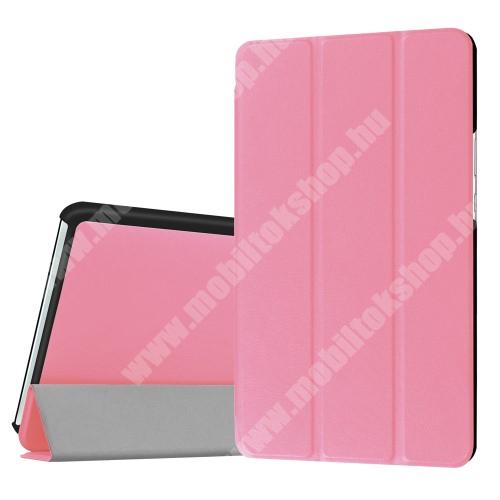 HUAWEI MediaPad M3 8.4 Notesz / mappa tok - RÓZSASZÍN - oldalra nyíló flip cover, TRIFOLD asztali tartó funkciós, mágneses záródás - HUAWEI MediaPad M3 8.4