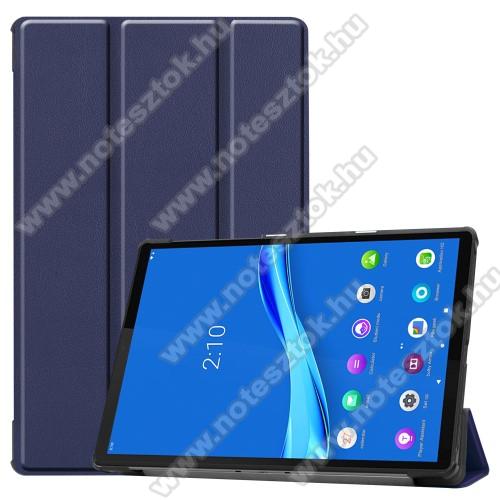 Lenovo Tab M10 Plus (TB-X606F)Notesz / mappa tok - SÖTÉTKÉK - oldalra nyíló flip cover, TRIFOLD asztali tartó funkciós, mágneses záródás, műanyag belső - Lenovo Tab M10 Plus (TB-X606F)