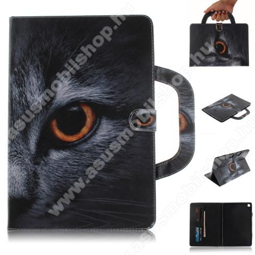 Notesz / mappa tok - SZEM MINTÁS - oldalra nyíló, rejtett mágneses záródás, belső zseb, asztali tartó funkció, hordozható kialakítás, szilikon belső - HUAWEI MediaPad M5 10 (2018) / HUAWEI MediaPad M5 10 Pro (2018)