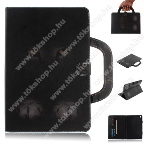 Notesz / mappa tok - SZEMPÁR  MINTÁS - oldalra nyíló, rejtett mágneses záródás, belső zseb, asztali tartó funkció, hordozható kialakítás, szilikon belső - HUAWEI MediaPad M5 10 (2018) / HUAWEI MediaPad M5 10 Pro (2018)