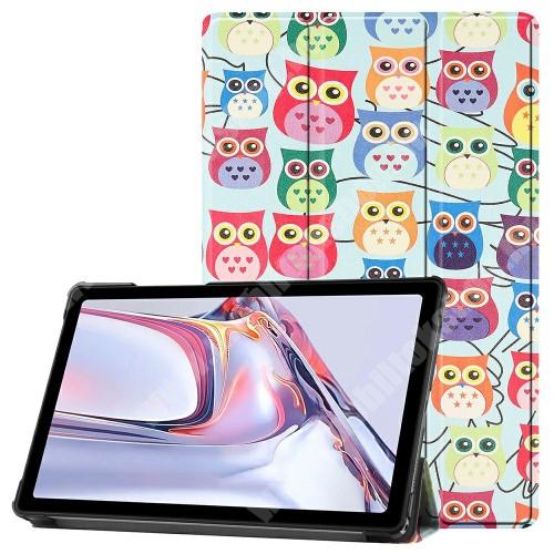 Notesz / mappa tok - SZÍNES BAGOLY MINTÁS - oldalra nyíló flip cover, TRIFOLD asztali tartó funkció, mágneses záródás, műanyag belső - SAMSUNG Galaxy Tab A7 10.4 (2020) (SM-T500/SM-T505)