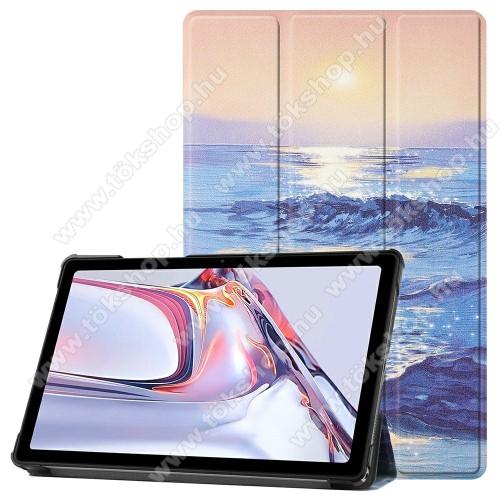 Notesz / mappa tok - TENGER MINTÁS - oldalra nyíló flip cover, TRIFOLD asztali tartó funkció, mágneses záródás, műanyag belső - SAMSUNG Galaxy Tab A7 10.4 (2020) (SM-T500/SM-T505)