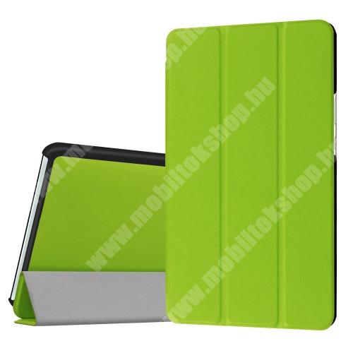 HUAWEI MediaPad M3 8.4 Notesz / mappa tok - ZÖLD - oldalra nyíló flip cover, TRIFOLD asztali tartó funkciós, mágneses záródás - HUAWEI MediaPad M3 8.4