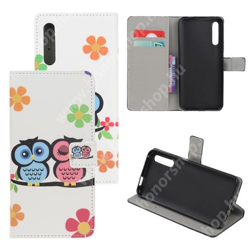 HUAWEI Honor 9X (For China market)Notesz tok / flip tok - BAGOLYPÁR MINTÁS - asztali tartó funkciós, oldalra nyíló, rejtett mágneses záródás, bankkártyatartó zseb, szilikon belső - HUAWEI P smart Pro (2019) / HUAWEI Y9s / Honor 9X (For China market) / Honor 9X Pro (For China)