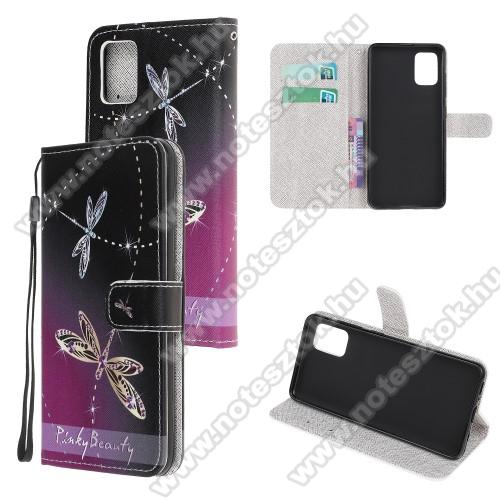 Notesz tok / flip tok - SZITAKÖTŐ MINTÁS - asztali tartó funkciós, oldalra nyíló, rejtett mágneses záródás, bankkártyatartó zseb, szilikon belső - SAMSUNG Galaxy A51 (SM-A515F)