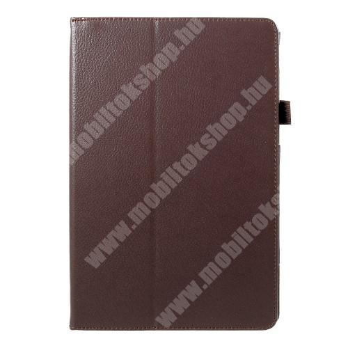 Notesz tok / mappa tok - asztali tartó funkciós, oldalra nyíló - BARNA - SAMSUNG SM-T830 Galaxy Tab S4 10.5 (Wi-Fi) / SAMSUNG SM-T835 Galaxy Tab S4 10.5 (LTE)