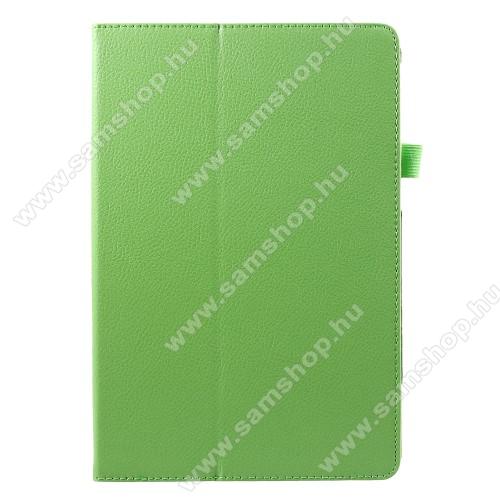 Notesz tok / mappa tok - asztali tartó funkciós, oldalra nyíló - ZÖLD - SAMSUNG SM-T830 Galaxy Tab S4 10.5 (Wi-Fi) / SAMSUNG SM-T835 Galaxy Tab S4 10.5 (LTE)