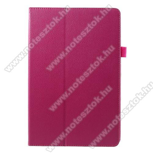 Notesz tok / mappa tok - asztali tartó funkciós, oldalra nyíló - MAGENTA - SAMSUNG SM-T830 Galaxy Tab S4 10.5 (Wi-Fi) / SAMSUNG SM-T835 Galaxy Tab S4 10.5 (LTE)