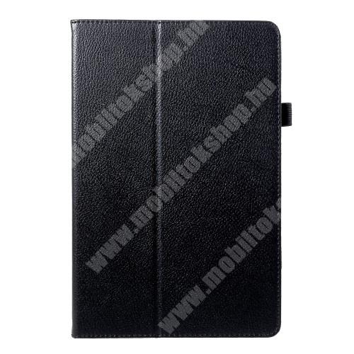 Notesz tok / mappa tok - asztali tartó funkciós, oldalra nyíló - FEKETE - SAMSUNG SM-T830 Galaxy Tab S4 10.5 (Wi-Fi) / SAMSUNG SM-T835 Galaxy Tab S4 10.5 (LTE)