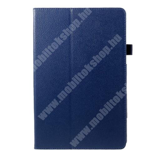 Notesz tok / mappa tok - asztali tartó funkciós, oldalra nyíló - SÖTÉTKÉK - SAMSUNG SM-T830 Galaxy Tab S4 10.5 (Wi-Fi) / SAMSUNG SM-T835 Galaxy Tab S4 10.5 (LTE)