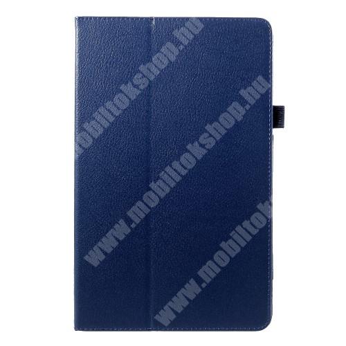 Notesz tok / mappa tok - asztali tartó funkciós, oldalra nyíló - SÖTÉTKÉK - SAMSUNG SM-T590 Galaxy Tab A 10.5 Wi-Fi / SAMSUNG SM-T595 Galaxy Tab A 10.5 LTE