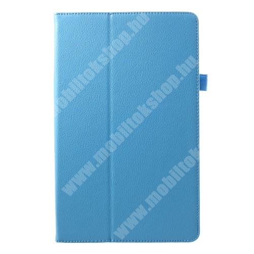 Notesz tok / mappa tok - asztali tartó funkciós, oldalra nyíló - VILÁGOSKÉK - SAMSUNG SM-T590 Galaxy Tab A 10.5 Wi-Fi / SAMSUNG SM-T595 Galaxy Tab A 10.5 LTE