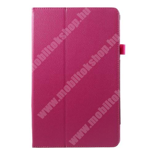 Notesz tok / mappa tok - asztali tartó funkciós, oldalra nyíló - MAGENTA - SAMSUNG SM-T590 Galaxy Tab A 10.5 Wi-Fi / SAMSUNG SM-T595 Galaxy Tab A 10.5 LTE