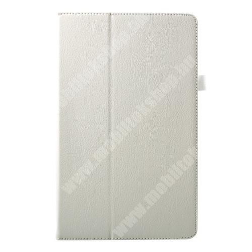Notesz tok / mappa tok - asztali tartó funkciós, oldalra nyíló - FEHÉR - SAMSUNG SM-T590 Galaxy Tab A 10.5 Wi-Fi / SAMSUNG SM-T595 Galaxy Tab A 10.5 LTE