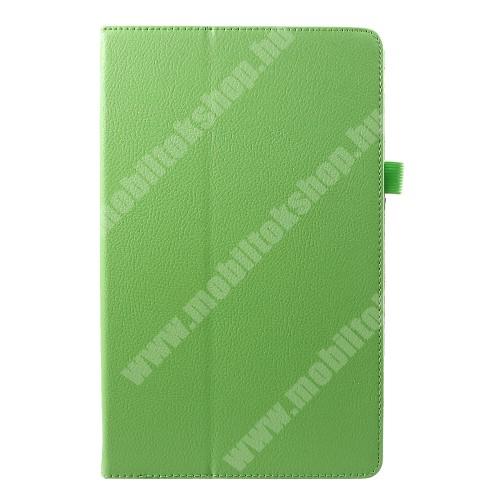 Notesz tok / mappa tok - asztali tartó funkciós, oldalra nyíló - ZÖLD - SAMSUNG SM-T590 Galaxy Tab A 10.5 Wi-Fi / SAMSUNG SM-T595 Galaxy Tab A 10.5 LTE
