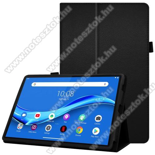 Lenovo Tab M10 Plus (TB-X606F)Notesz tok / mappa tok - asztali tartó funkciós, oldalra nyíló, ceruzatartó, műbőr belső - FEKETE - Lenovo Tab M10 Plus (TB-X606F)