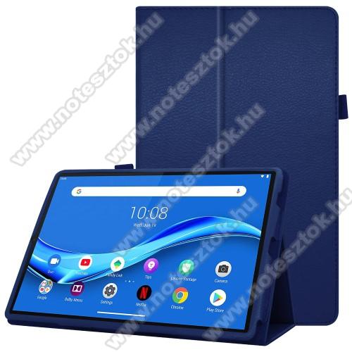 Lenovo Tab M10 Plus (TB-X606F)Notesz tok / mappa tok - asztali tartó funkciós, oldalra nyíló, ceruzatartó, műbőr belső - SÖTÉTKÉK - Lenovo Tab M10 Plus (TB-X606F)
