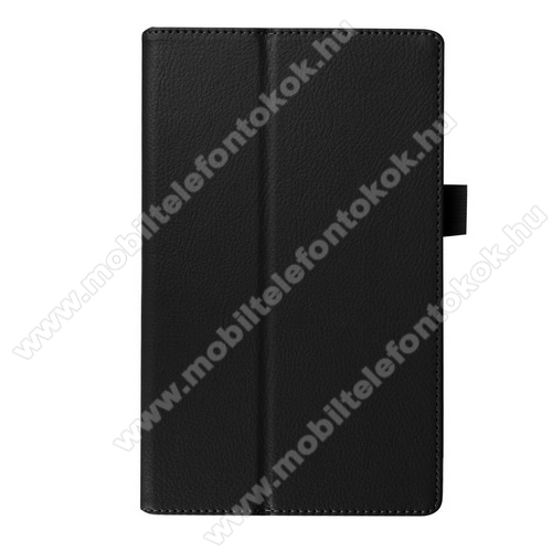 Notesz tok / mappa tok - asztali tartó funkciós, oldalra nyíló, rejtett mágneses záródás - FEKETE - Lenovo Tab 2 A8-50