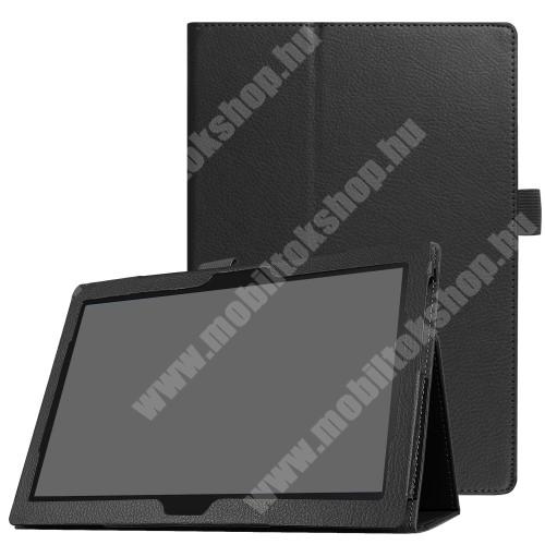 Notesz tok / mappa tok - asztali tartó funkciós, oldalra nyíló - FEKETE - Lenovo Tab 4 10 / Lenovo Tab 4 10 Plus