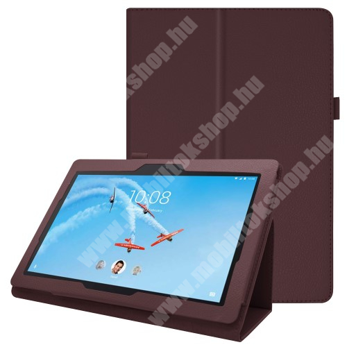 Notesz tok / mappa tok - BARNA - asztali tartó funkciós, oldalra nyíló, tolltartó, műbőr belső - Lenovo Tab E10