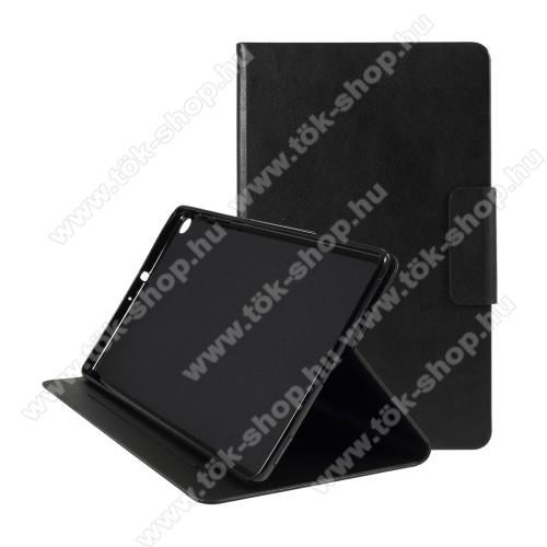 Notesz tok / mappa tok - FEKETE - asztali tartó funkciós, oldalra nyíló, szilikon belső - SAMSUNG Galaxy Tab A 10.1 Wi-Fi (2019) (SM-T510) / SAMSUNG Galaxy Tab A 10.1 LTE (2019) (SM-T515)