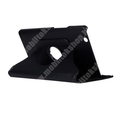 HUAWEI MediaPad M3 8.4 Notesz tok/ mappa tok - FEKETE - gumis záródás, asztali tartó funkcióval, 360°-ban elforgatható - HUAWEI MediaPad M3 8.4