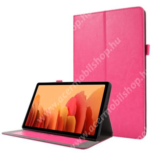 Notesz tok / mappa tok - RÓZSASZÍN - asztali tartó funkciós, oldalra nyíló, bankkártya tartó zsebek, szilikon belső - SAMSUNG Galaxy Tab A7 10.4 (2020) (SM-T500/SM-T505)