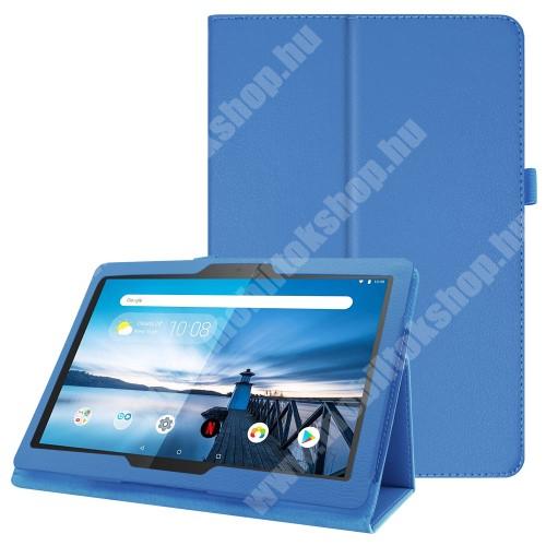 Notesz tok / mappa tok - VILÁGOSKÉK - asztali tartó funkciós, oldalra nyíló, tolltartó, műbőr belső - Lenovo Tab P10 (TB-X705F)