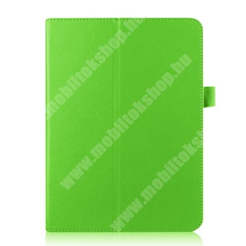 Notesz tok / mappa tok - ZÖLD - asztali tartó funkciós, oldalra nyíló, rejtett mágneses záródás - SAMSUNG SM-T810 / SM-T815 Galaxy Tab S2 9.7