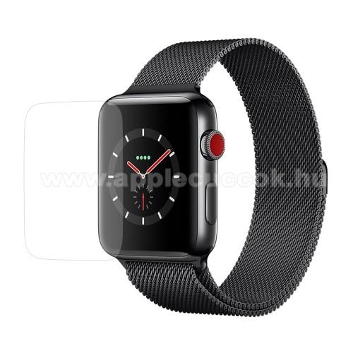 APPLE Watch Series 3 42mmOkosóra előlap védő karcálló edzett üveg - 0.3mm, 9H, A képernyő sík részét védi - APPLE Watch Series 3 42mm