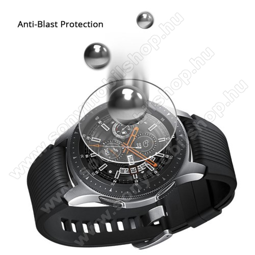 Okosóra előlap védő karcálló edzett üveg - 1db - 0.3mm, 9H, A képernyő sík részét védi - SAMSUNG Galaxy Watch 46mm / SAMSUNG Gear S3 Classic / SAMSUNG Gear S3 Frontier