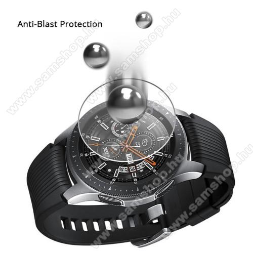 SAMSUNG SM-R760 Gear S3 FrontierOkosóra előlap védő karcálló edzett üveg - 1db - 0.3mm, 9H, A képernyő sík részét védi - SAMSUNG Galaxy Watch 46mm / SAMSUNG Gear S3 Classic / SAMSUNG Gear S3 Frontier