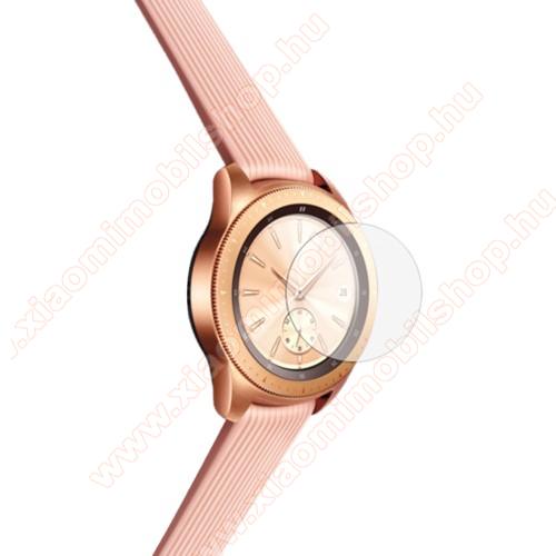 Okosóra előlap védő karcálló edzett üveg - 1db - 0.3mm, 9H, A képernyő sík részét védi - SAMSUNG Galaxy Watch 42mm