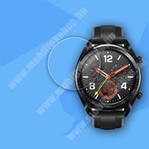 Okosóra előlap védő karcálló edzett üveg - 0.26mm, 9H, A képernyő sík részét védi - HUAWEI Watch GT