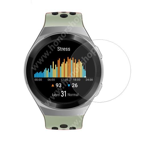HUAWEI Watch GT 2e Okosóra előlap védő karcálló edzett üveg - 1db, 0.3mm, 9H, A képernyő sík részét védi - HUAWEI Watch GT 2e