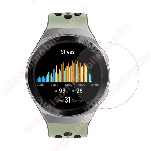 Okosóra előlap védő karcálló edzett üveg - 1db, 0.3mm, 9H, A képernyő sík részét védi - HUAWEI Watch GT 2e