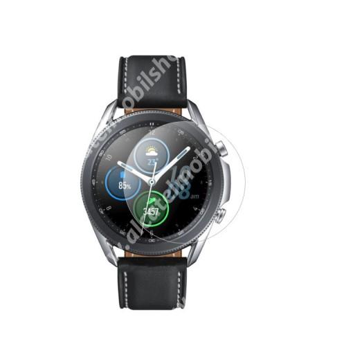 Okosóra előlap védő karcálló edzett üveg - 1db - 0.3mm, 9H, A képernyő sík részét védi - SAMSUNG Galaxy Watch3 45mm (SM-R845F)