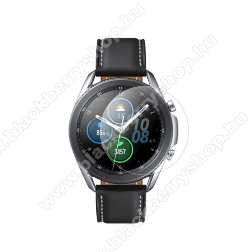 Okosóra előlap védő karcálló edzett üveg - 1db - 0.3mm, 9H, A képernyő sík részét védi - SAMSUNG Galaxy Watch3 41mm (SM-R855F)