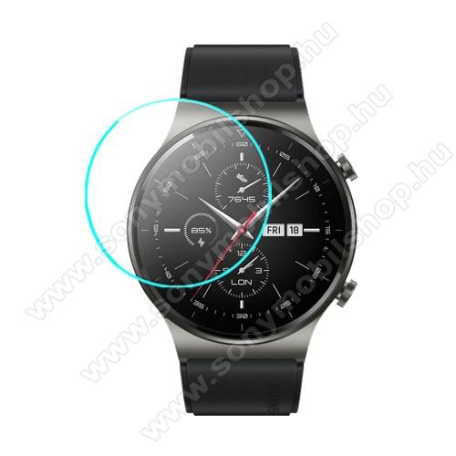 Okosóra előlap védő karcálló edzett üveg - 1db - 0.3mm, 9H, A képernyő sík részét védi - HUAWEI Watch GT 2 Pro