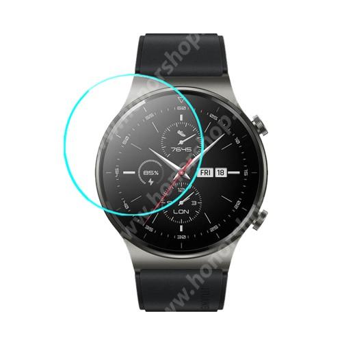 HUAWEI Watch GT 2 Pro 46mm Okosóra előlap védő karcálló edzett üveg - 1db - 0.3mm, 9H, A képernyő sík részét védi - HUAWEI Watch GT 2 Pro