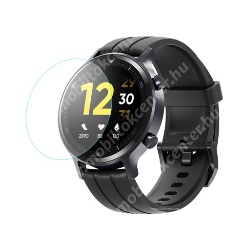 Okosóra előlap védő karcálló edzett üveg - 1db - 0.3mm, 9H, A képernyő sík részét védi - Realme Watch S