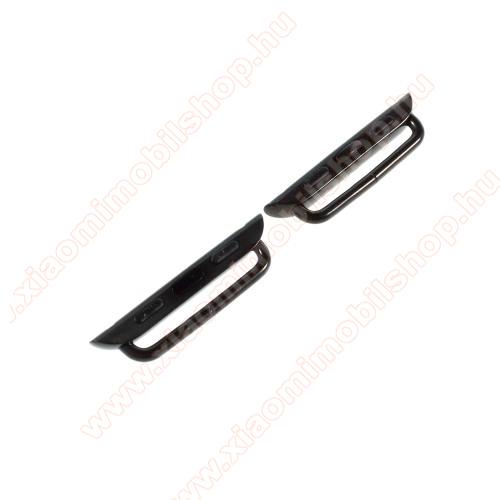 Okosóra fém csatlakozó - 1 pár (2db), csavarhúzóval - FEKETE - APPLE Watch Series 3/2/1 42mm / APPLE Watch Series 4 44mm / APPLE Watch Series 5 44mm