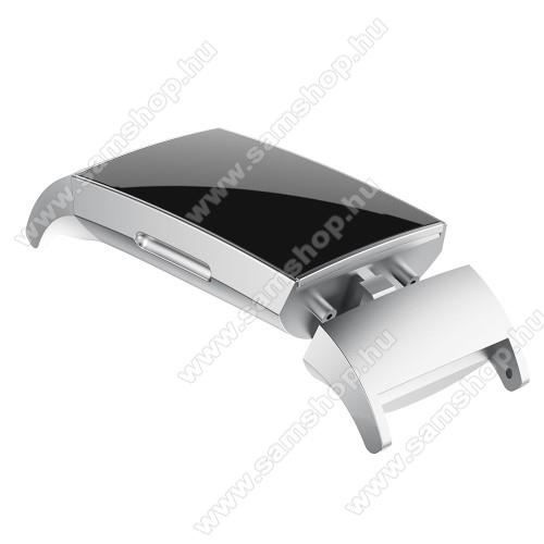 Okosóra fém csatlakozó - 2db/1pár - EZÜST - bármilyen 18mm-es teleszkópos szíjjal használható - Fitbit Charge 3/ Fitbit Charge 4