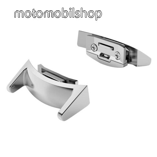 Okosóra fém csatlakozó - 2db - EZÜST - SAMSUNG SM-R720 Gear S2
